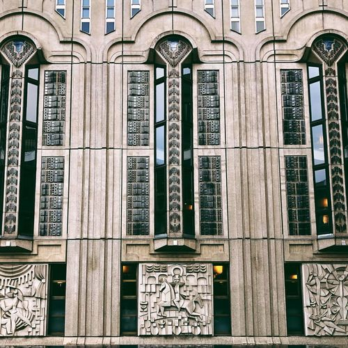 Façade Art Deco Friedrichstadtpalast Built Structure Architecture Building Exterior Window Building No People Day