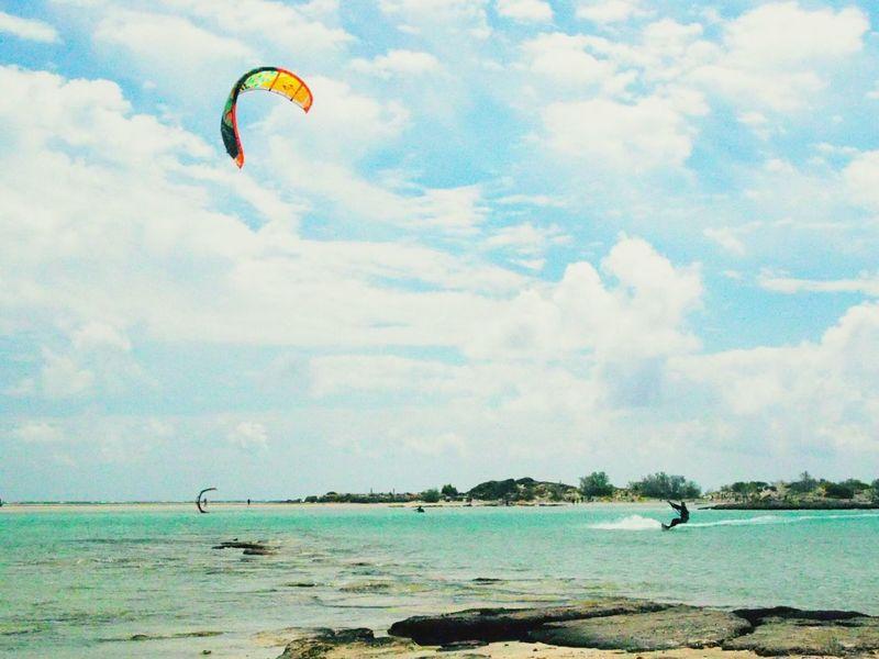 Kitesurfing at Elafonisi In Crete Greece, Crete Best Of Crete A Beautiful Day Crete Elafonisi Beach Crete Elafonissi At The Beach