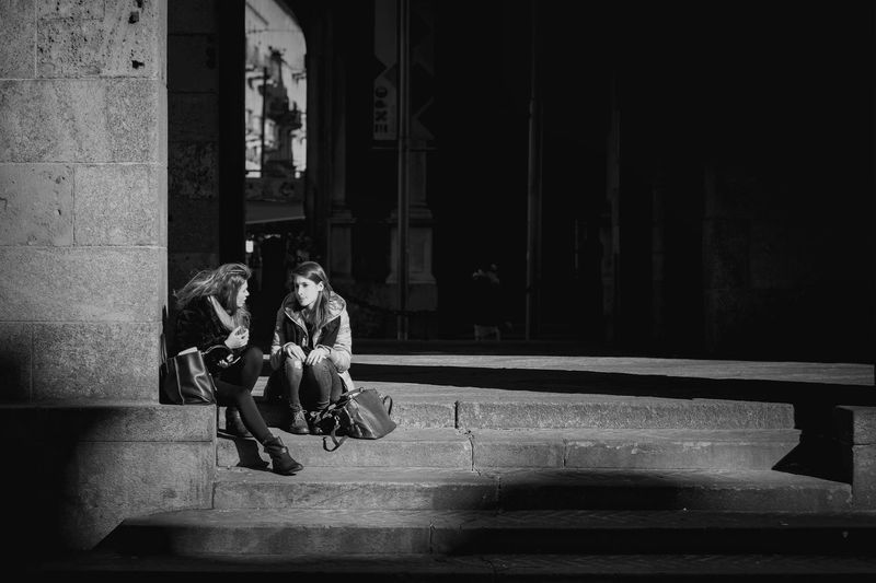 Chatting in the Sun Light And Shadow Imagelogger Streetphotography Sepia_collection Blackandwhite Black And White EyeEm Best Shots Street Portrait The EyeEm Facebook Cover Challenge Samsung