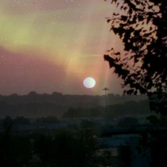 Sunrise over the West Midlands, United Kingdom.