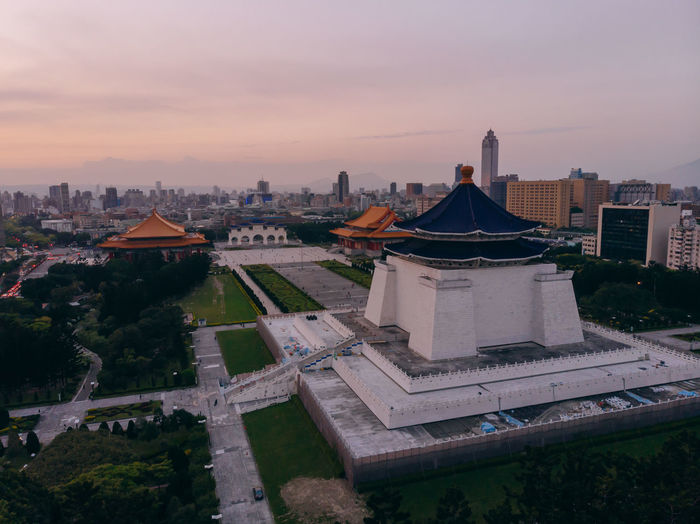 The National Chiang Kai-shek Memorial Hall ASIA Architecture Chiang Mai | Thailand Drone  Famous Fly Kai Memorial National Skyline Taiwan View Aerial China Culture Destinations Hall High Angle View Historic History Kai-shek Landmark Monument Shekelsphotography Taipei