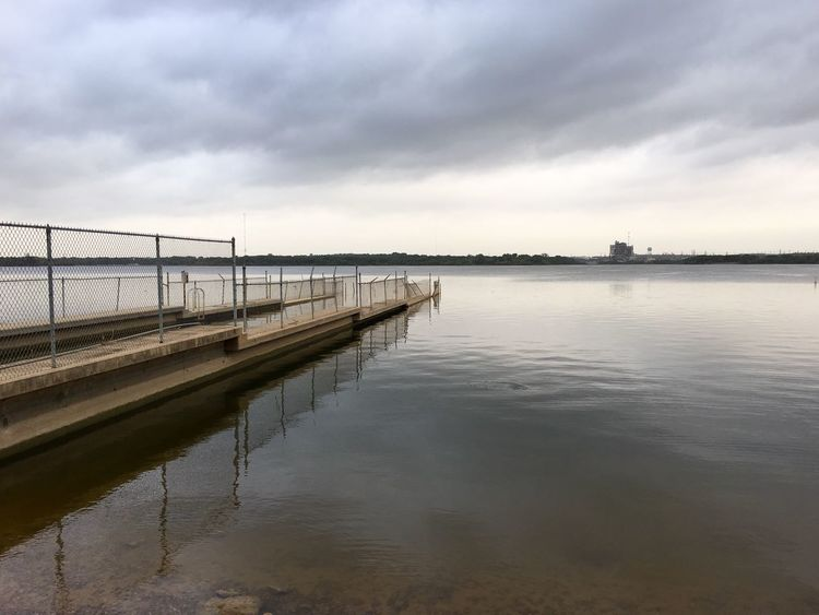 Calm lake under cloudy sky Calm Water Calm Lake Dock Clouds And Sky Cloudy Day Clouds Peace And Quiet Reflection My Favorite Place