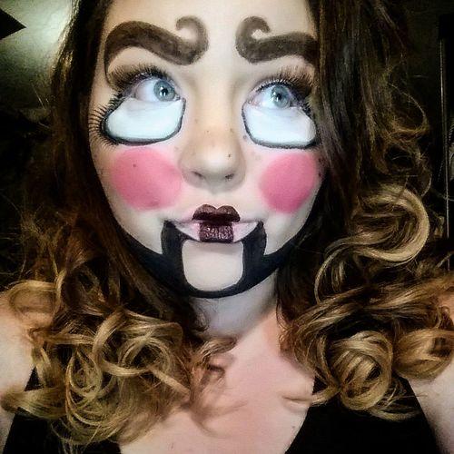 Selfie ✌ Makeup Halloweenmakeup Hair Faces Of EyeEm Ventriloquist Dummy