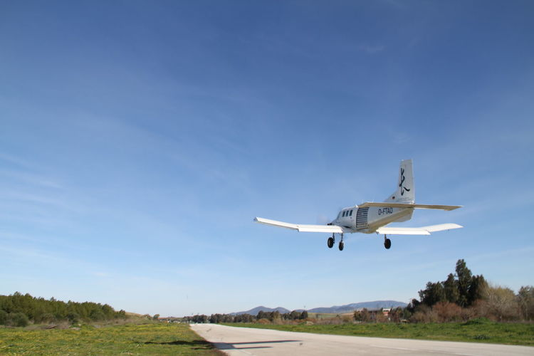 Air Vehicle Aircraft Wing Airplane Airport Airport Runway Andalucía Blue Day Flying Landing - Touching Down Mode Of Transport Outdoors PAC 750 XL Sky Transportation Travel