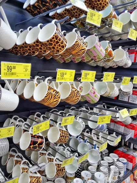 Retail  Text Abundance For Sale Large Group Of Objects Variation Full Frame No People Choice Price Tag Consumerism Day Market Backgrounds Outdoors Cup Cupsofcoffee Cups And Mugs Cups Of Coffe Cup Of Tea Cups EyeEm Best Shots Beautiful Cup Of CoffeeFood