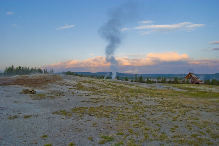 Beauty In Nature Geyser Landscape Nature Old Faithful Smoke - Physical Structure Steam Sunrise