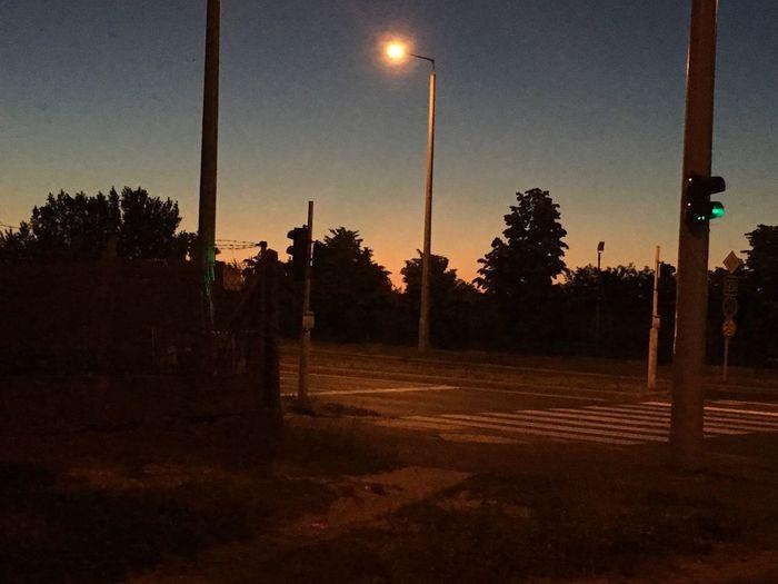 Night Lights Night Nightphotography Town Empty Road