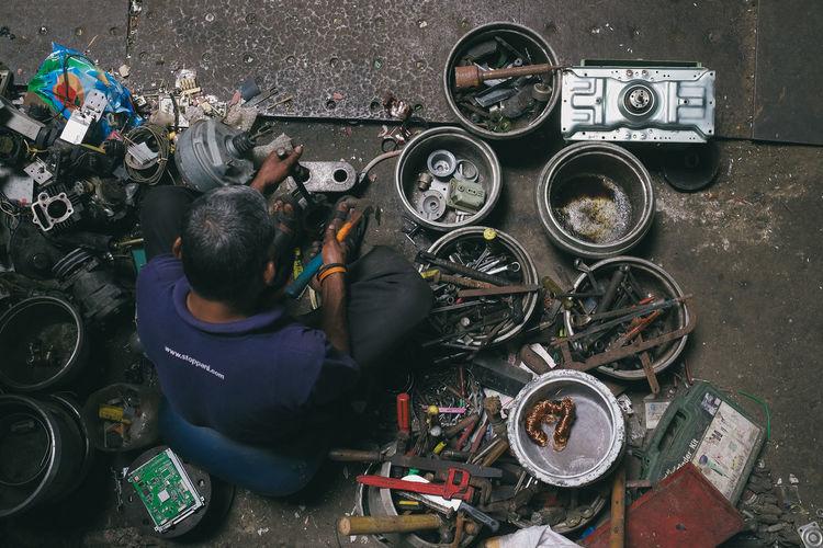 Scrap worker