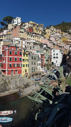 Architecture Outdoors Mountain Building Exterior Italy LiguriaMonAmour Beach Sea Life Travel Destinations Tranquil Scene Beauty In Nature Riomaggiore