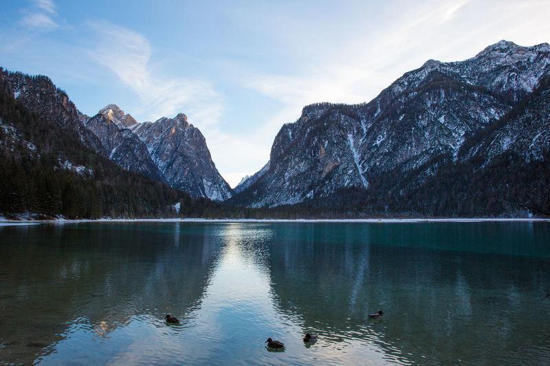 Braies Braies Lake Dolomites, Italy Braies Lake Dolomites Lake Mountains Mountains And Lake Lake And Mountain Italy Dolomites South Tyrol Südtirol Winter Lake View Dolomiti Landscape Alps Tourism Vacations Vacation