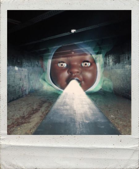 @the End Of The Tunnel Photographic Approximation Facial Experiments Type Faces Surrealism And Fantasy Art