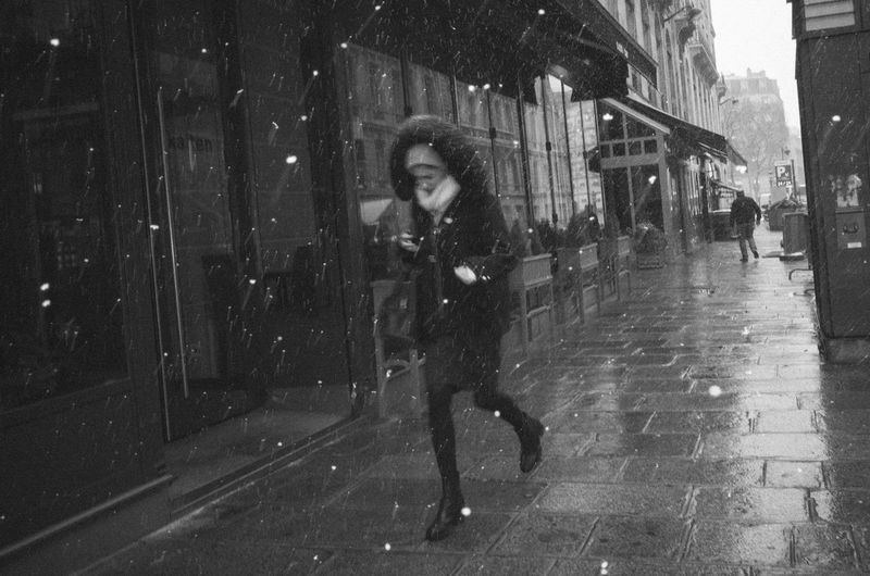 RICOH GR 2 Candid Candid Photography Monochrome Snow Streetphotography