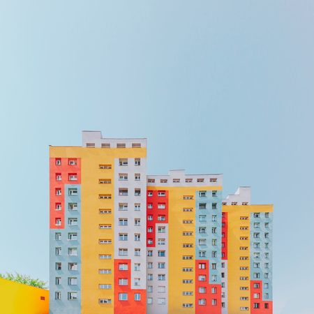 ⬛◼️◾︱color hierarchy Blue Sky Color Colors Colorful Exterior Blocks Building Exterior Façade Minimalism Minimal Architecture Architectural Column Canonphotography VSCO Minimalist Architecture EyeEm Best Shots EyeEmNewHere First Eyeem Photo EyeEm Selects Windows Canon Architecture_collection Clear Sky Filing Cabinet Business Finance And Industry Stack Sky The Architect - 2018 EyeEm Awards