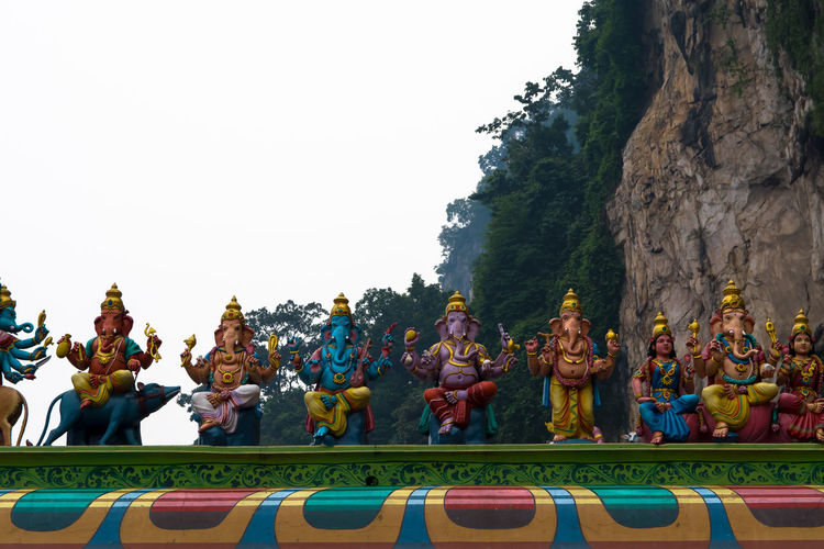 Ganesh Hinduism Hindu Temple Religious Art Malaysia Hills Statues Colorful Travel Photography