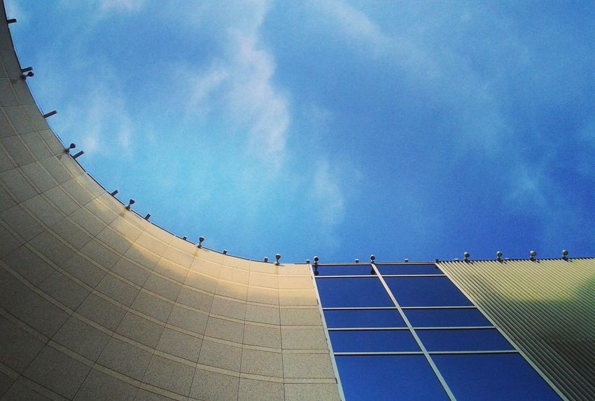 Architecture Blue Built Structure Camber Cloud No People Office Building