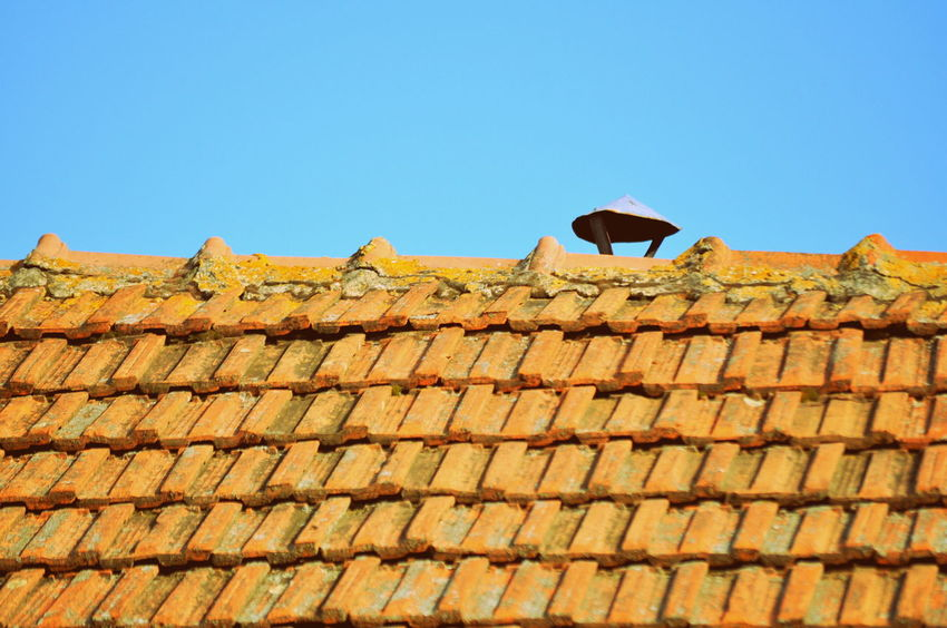Architecture Blue Day Nature Roof Sky Sunny Tiles Vintage