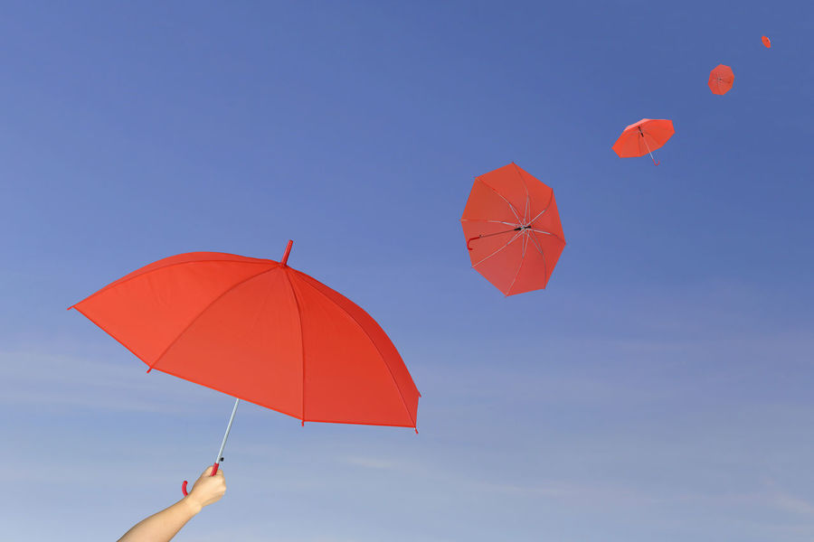 Red umbrella in hand on blue sky background,umbrella blown by the wind in concept for management business idea. Blue Sky White Clouds Business Concepts Leadership Is Powerful Red Umbrella Blue Sky Blue Sky And Clouds Business Finance And Industry Business Idea Concept Conceptual Idea Ideal Ideas Leadership Leadership Conference Leadership Redefined Leadershipretreat Management Management; Red Umbrellas Umbrella Umbrellas Umbrellas In The Sky Umbrella☂☂