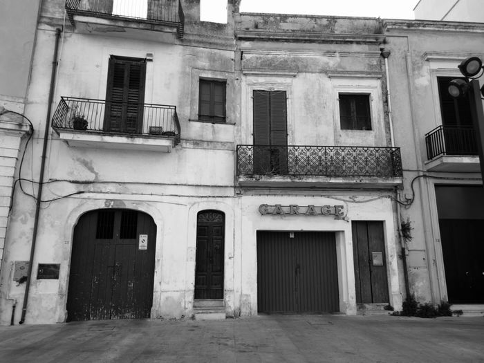 """Garage"" Architecture Building Exterior Built Structure Window No People Blackandwhitephotography Blackandwhite Black And White Photography Blackandwhite Photography Italy🇮🇹 Puglia South Italy No Filter No Filter, No Edit, Just Photography Puglia, Italy Garage Garage Door"