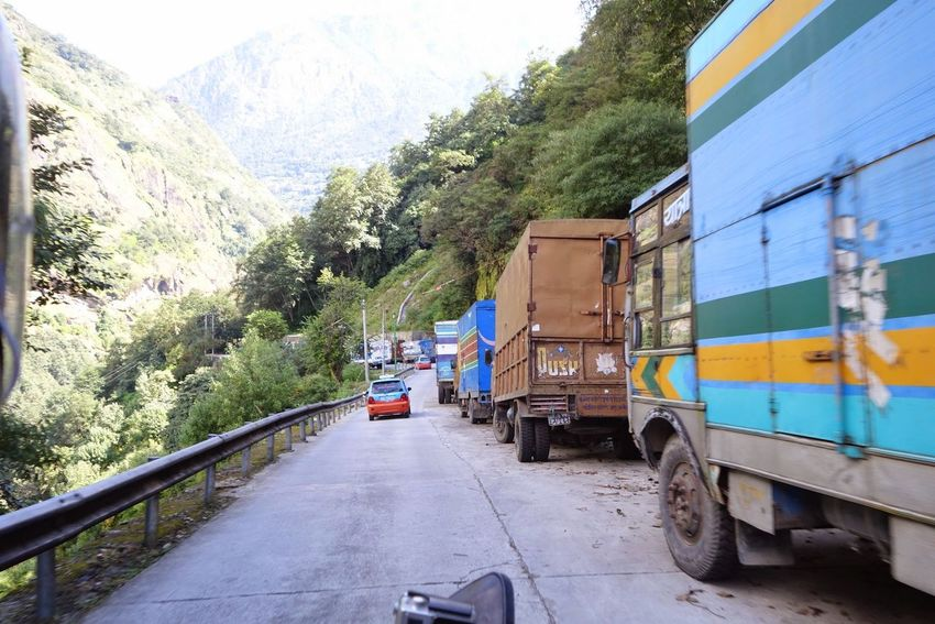 Day Freight Transportation Land Vehicle Mode Of Transport Mountain Nature No People Outdoors Public Transportation Road Sky Train - Vehicle Transportation Tree
