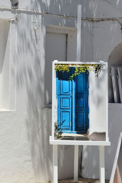 Blue door Santorini Greece Grecia Painting Architecture Door Blue Bluedoor Art White Decoration Design Homedecor Porta Arte Dipinto Finding New Frontiers Art Is Everywhere