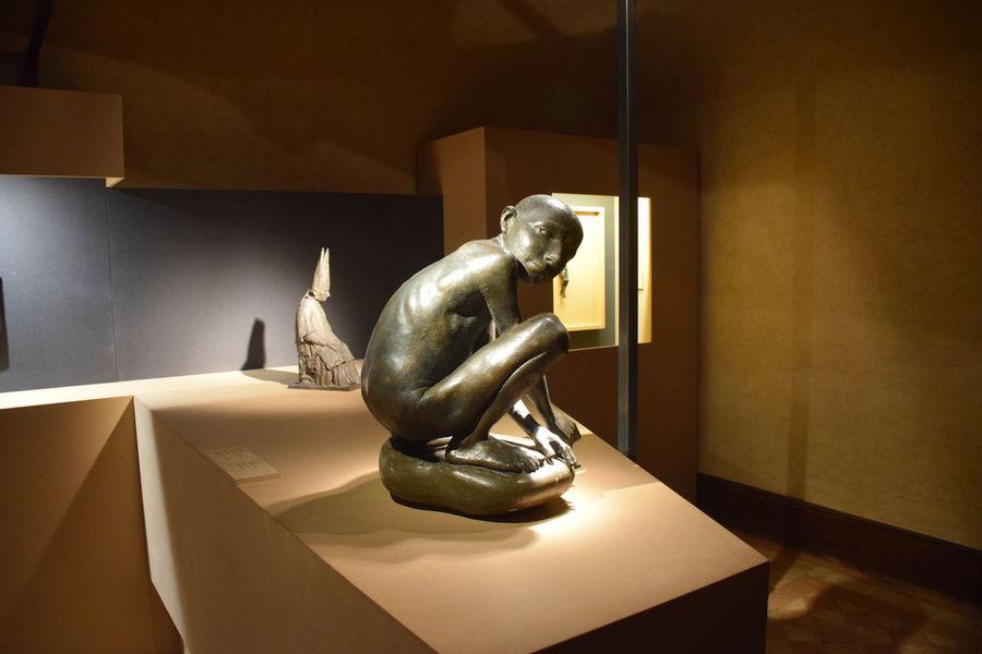 Manzù Saint Angel Castle Bronze Statue Human Representation Indoors  No People Rome Italy Sculpture Spirituality Statue