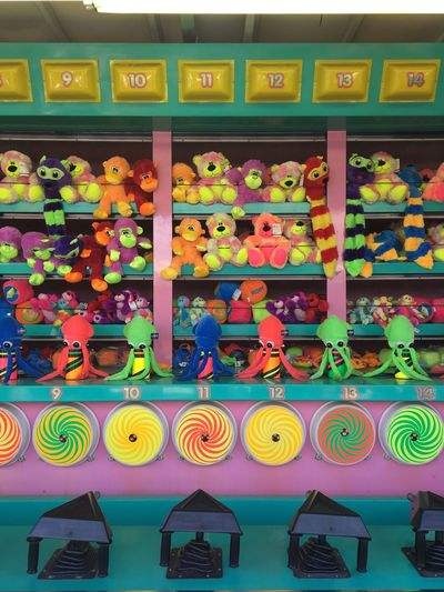 Colorful objects for sale