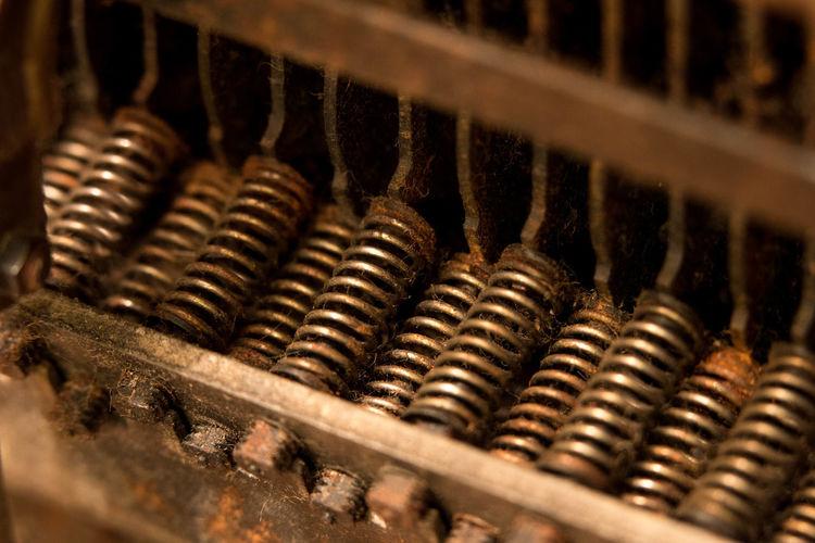 Close-up of typewriter