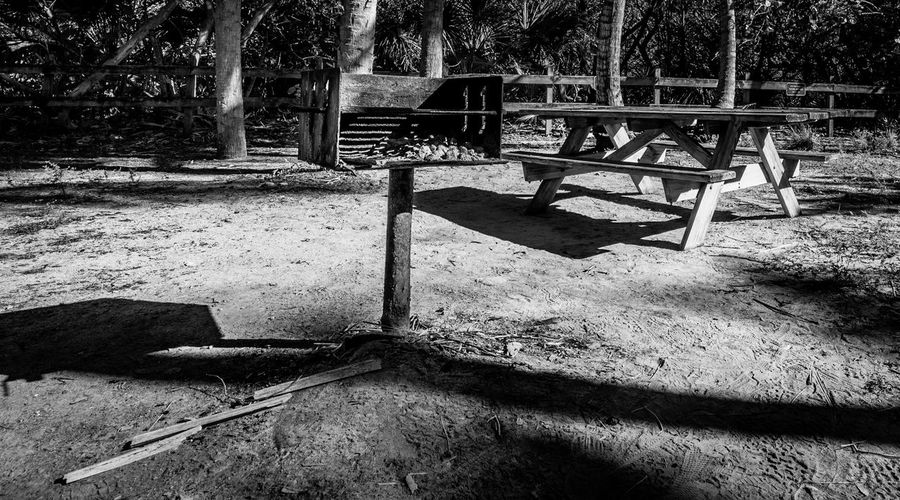 B&w Black And White Black And White Photography Day Grill Nature No People Outdoors Picnic Playground Tree