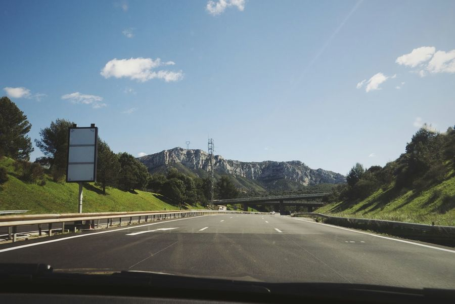 Mountains From My Point Of View On The Road The Following following the highway in France Mein Automoment The Drive