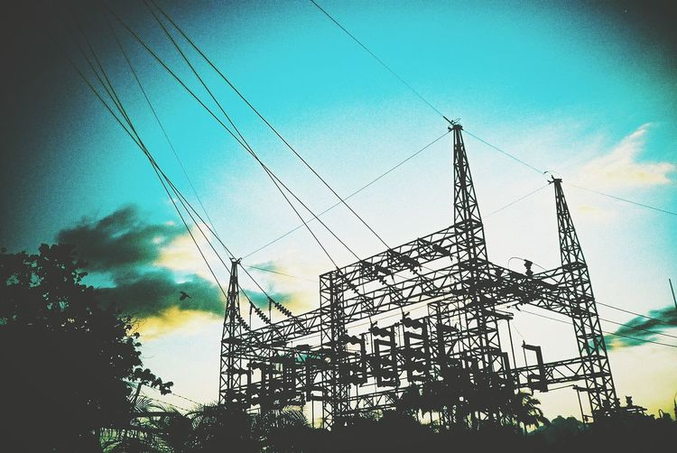 Electric Tower  Electric Blue EyeEm Gallery EyeEm Energy Power Industry
