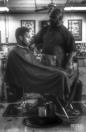 It must be Saturday Haircut Barber Shop Black And White Candid