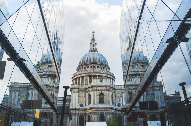Low angle view of st. paul's cathedral