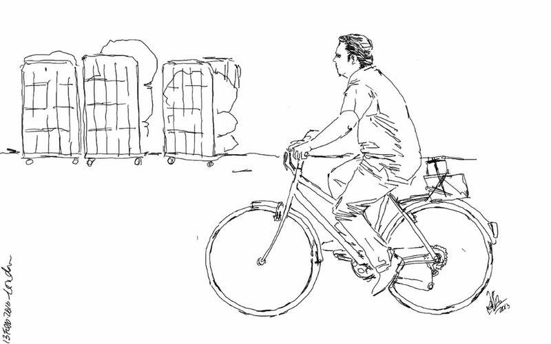 Street Urban Cyclist Sketch Kaay
