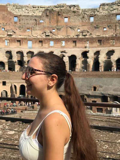 Travel Travel Destinations Adult Vacations People One Person Architecture Outdoors Summer Adults Only Built Structure Day Only Women One Woman Only Building Exterior City EyeEmNewHere No Filter, No Edit, Just Photography Tranquil Scene -in Coloseum Italia Second Acts