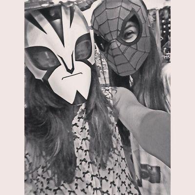 Eu conheci o homem aranha Bj mundo :*