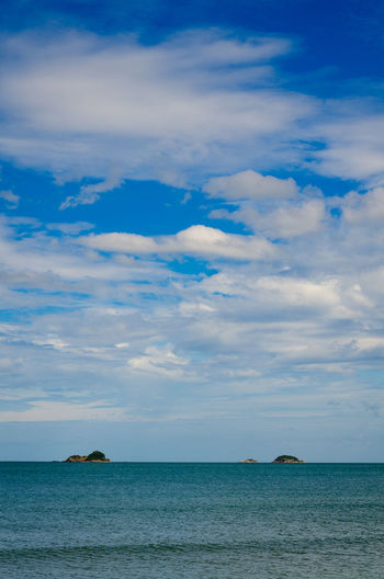 Kao Ta Keab Beach - Hua Hin , Prachuabkhirikhun , Thailand Beauty In Nature Blue Cloud - Sky Day Horizon Horizon Over Water Idyllic Land Nature No People Non-urban Scene Outdoors Scenics - Nature Sea Sky Tranquil Scene Tranquility Water Waterfront