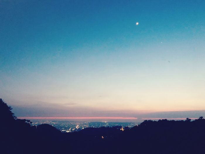 Peaceful silence Sky Water Beauty In Nature Sea Scenics - Nature Tranquility Silhouette Nature Horizon Outdoors Sunset Moon Night First Eyeem Photo