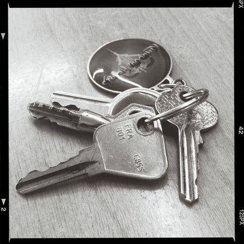 Keys Keychain Black & White