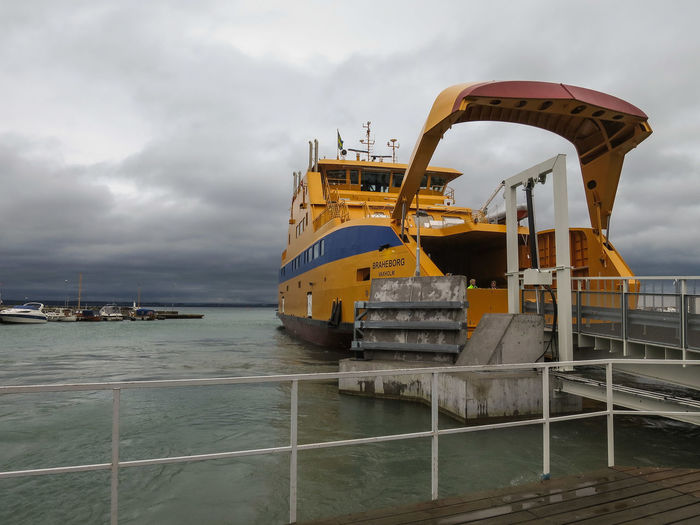 The new Ferry Braheborg , Arriving to Gränna Harbour ☺