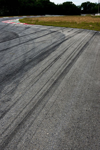 Tire marks at a