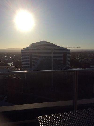 Architecture Australia Beach Life Drinking Glasses Broadbeach Casino Night Clearsky Sun Sunset