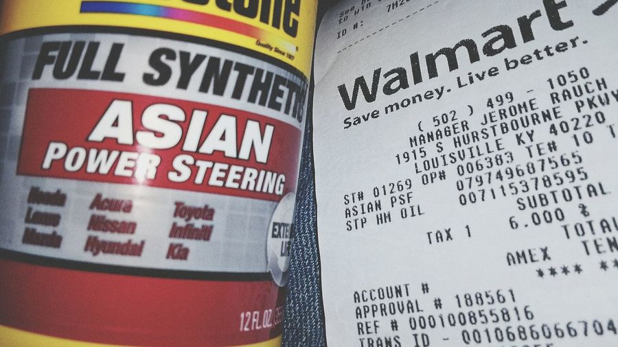 Really Walmart?? I just had to share this. Need some legal advice from someone about this!. OMG!!!!  .gov 911 @ @ ! ? @ ## Asian Power AP Asian Power Steering Fluid Communication Text Close-up