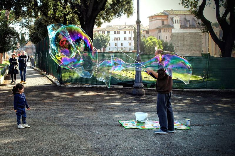 Learn & Shoot: Balancing Elements Wondering Illusion Bubbles Small And Big Rainbow