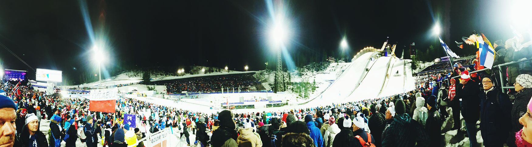 A small panorama from the Lahti ski world championship 2017! Lahti, Finland World Championship Skiing Skijumping First Eyeem Photo