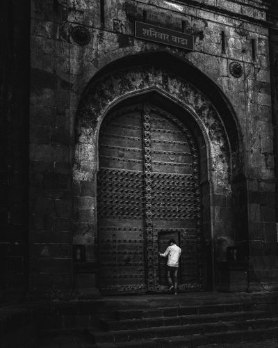 Enter at your own risk The Minimalist - 2019 EyeEm Awards Full Length Arch Door Rear View Architecture Built Structure Building Exterior