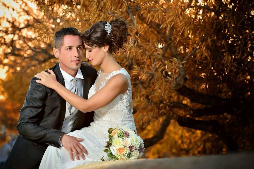Love Wedding Bridegroom Bride Togetherness Heterosexual Couple Wedding Dress Romance Couple - Relationship Men Beautiful People Adult Affectionate Autumn Young Adult Elégance Two People Married Young Women Young Men