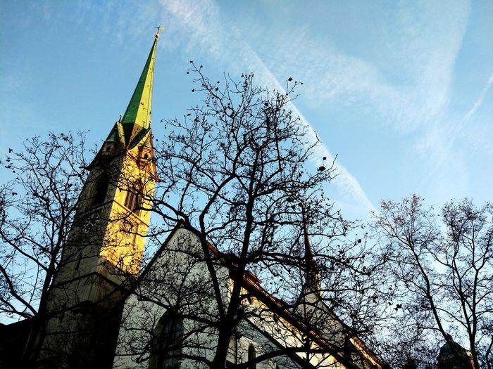 Zürich Church Winter Zuerich Predigerkirche
