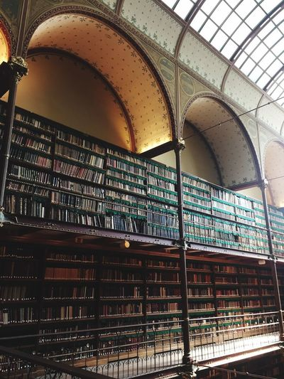 Books Library Architecture Built Structure Indoors  No People Arch Low Angle View Building History