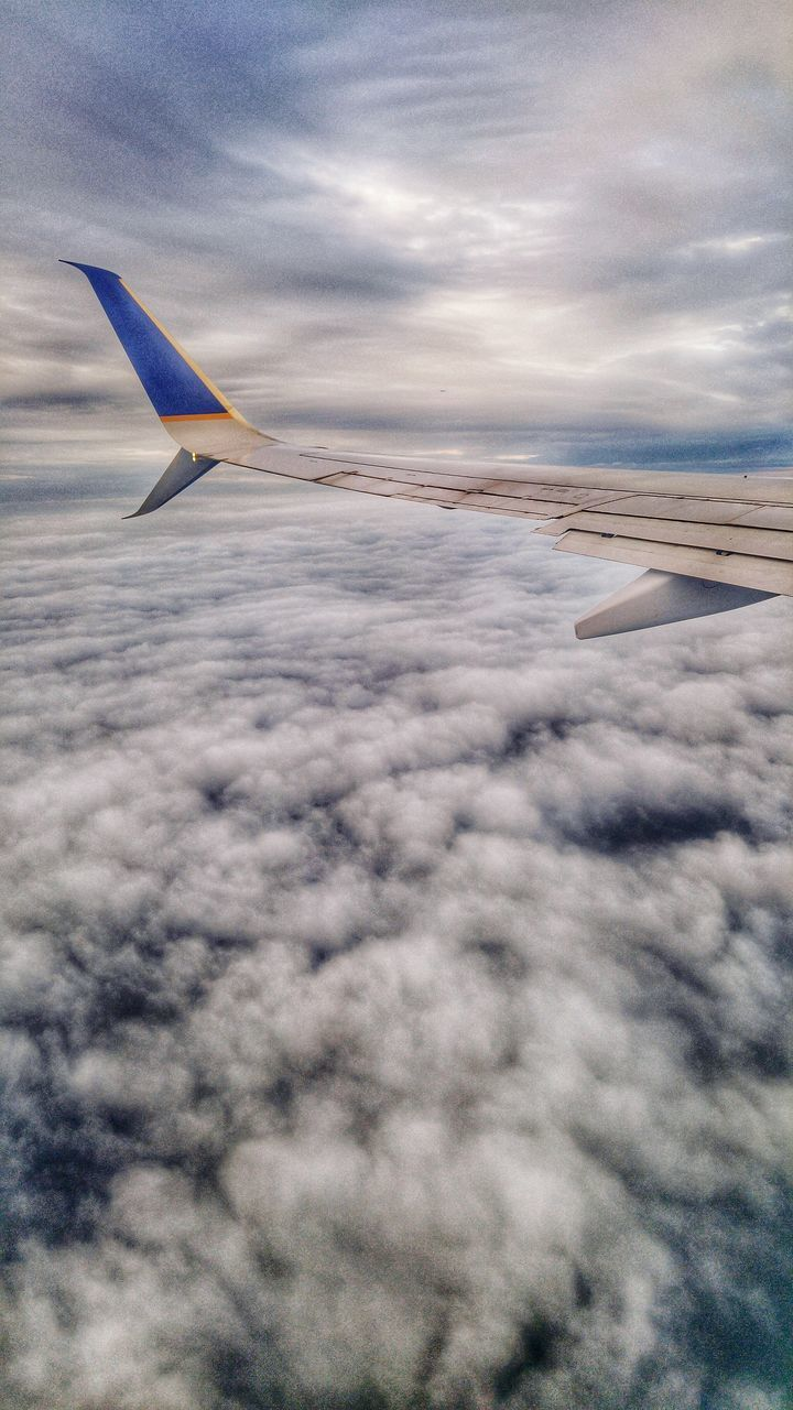 airplane, transportation, sky, flying, airplane wing, cloud - sky, journey, aerial view, travel, nature, mode of transport, air vehicle, no people, aircraft wing, scenics, outdoors, beauty in nature, mid-air, day