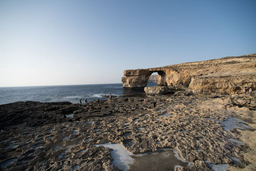 azure window, gozo, Malta Astronomy Azure Beach Beauty In Nature Blue Clear Sky Day Heaven Horizon Over Water Islandlife Nature Nature No People Outdoors Scenics Sea Sky Sun Travel Destinations Water Wind Window